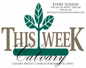This Week at Calvary Poster