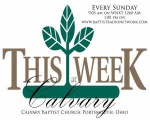 This Week at Calvary Poster